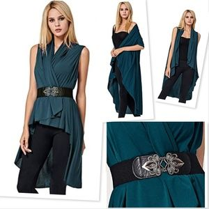 NEW Versatile Shawl Cardigans Drape Dress w/ Belt